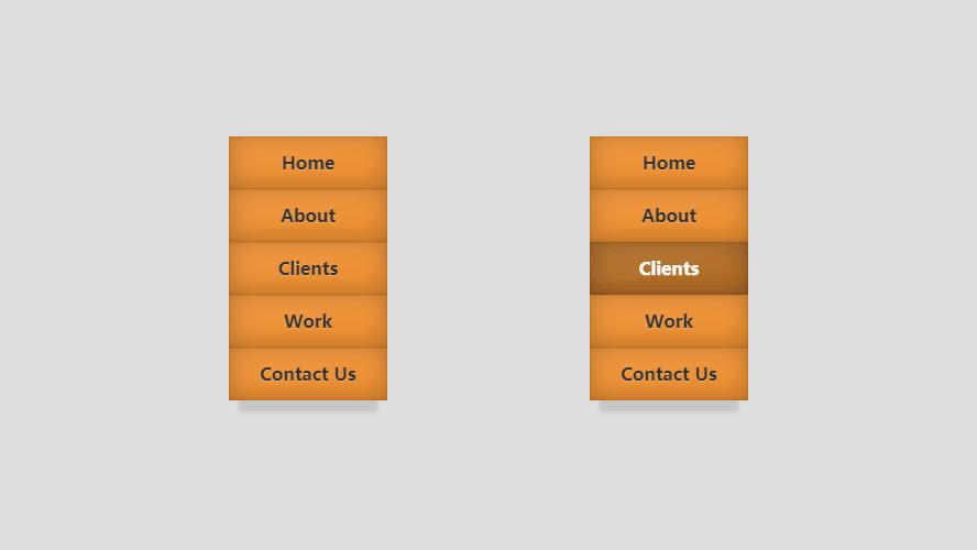 纯CSS3无JS代码编写立体方块菜单3D旋转切换特效