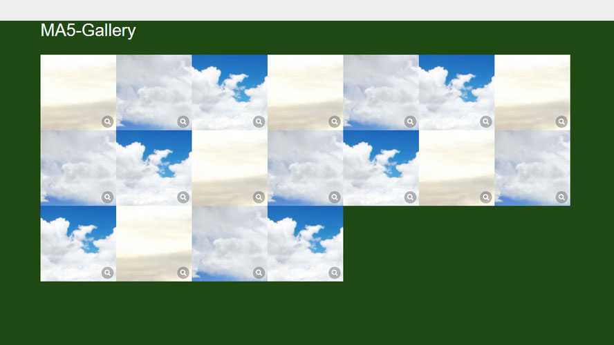 ma5gallery制作响应式图片相册切换全屏预览代码