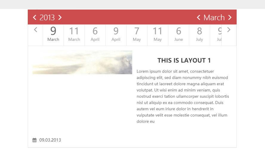 timeline制作tab标签样式UI简洁版日历表