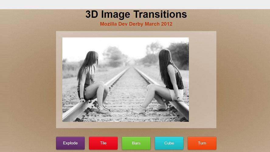 CSS3实现的五种3D图片炫酷切换效果