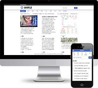 财经资讯织梦模板,理财新闻网站源码
