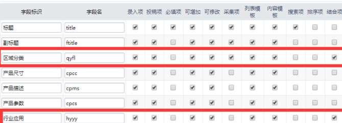 帝国CMS分类筛选