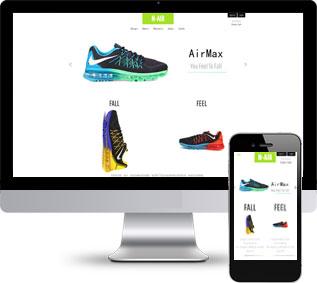 运动鞋静态模板,品牌服装静态模板