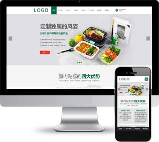 通用网站模板,塑料网站模板,饭盒网站模板