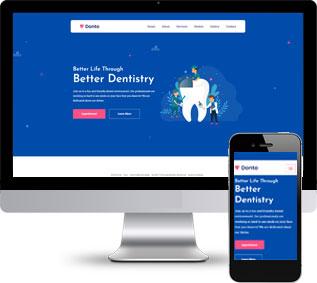 牙科医疗网站模板,医疗诊所html模板