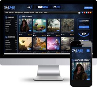 网络视频网站模板