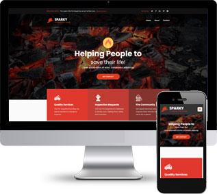 智慧消防html模板,云数据网页模板