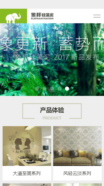 硅藻泥网站模板,壁材网站模板