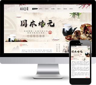 中医养生网站模板,养生健康网站模板