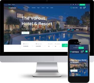 度假酒店模板,酒店预订静态模板