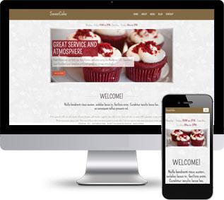 蛋糕网站模板,甜品网站模板,商城网站模板