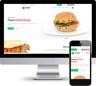 汉堡网站模板,面包网站模板,快餐网站模板