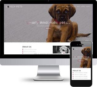 动物静态模板,宠物静态模板,单页面静态模板