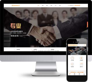 代理记账网站源码,财政咨询网站源码,企业网站源码