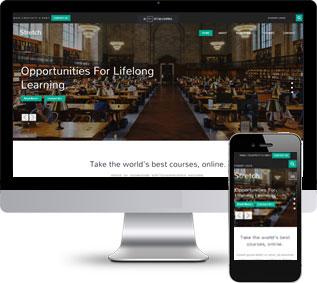 学校教育网站模板,培训机构网站模板